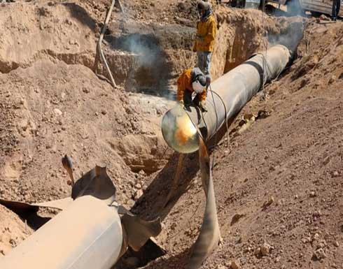 النظام يعلن استئناف العمل في خط الغاز العربي بعد تعرضه لهجوم