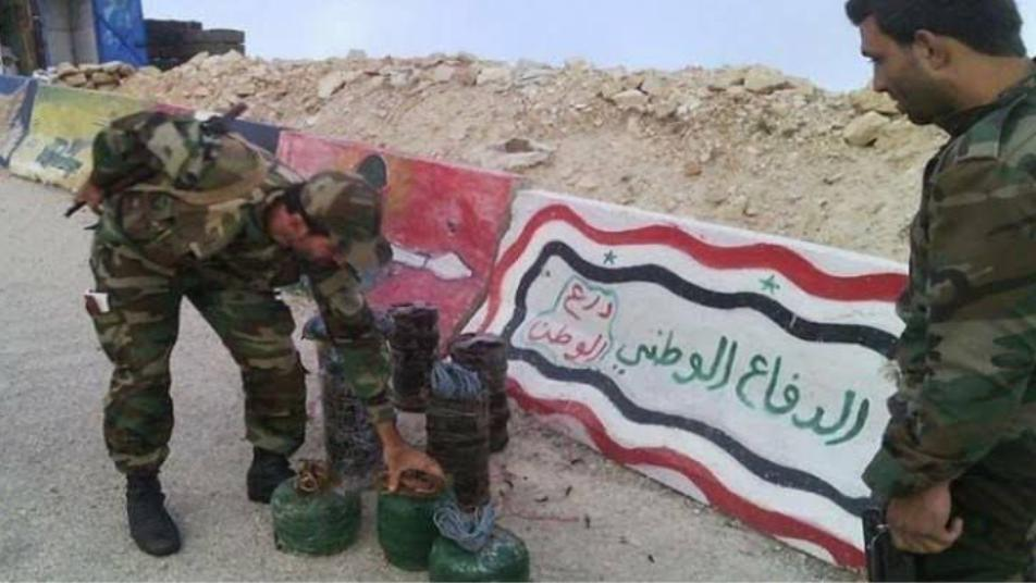 A mine explosion in Al-Raqqa countryside kills two members of the National Defense Militia