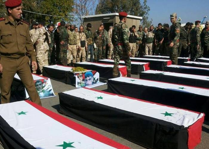 By names, 5 members of the regime forces were killed, including a brigadier general and a lieutenant