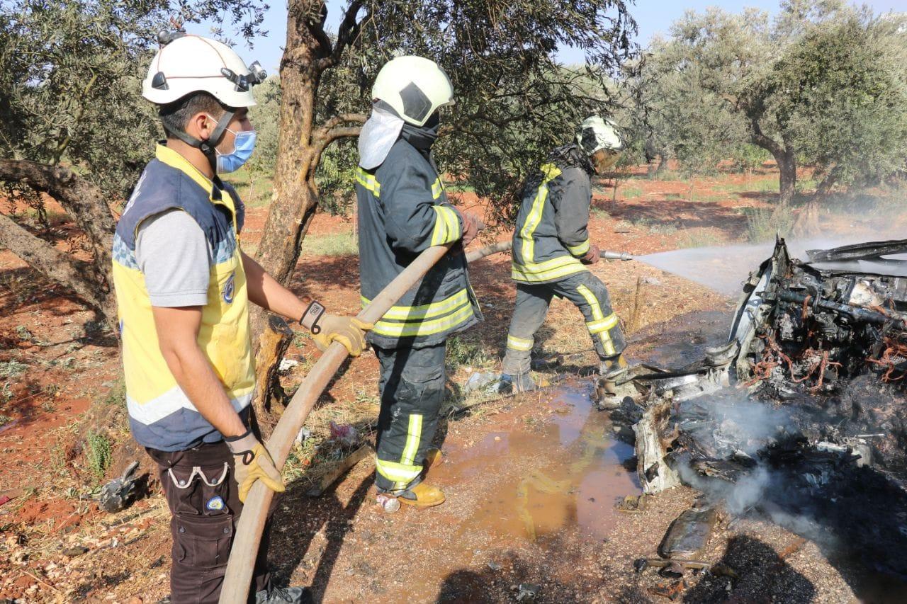 مقتل شخص بقصف لطائرة مسيرة في ادلب
