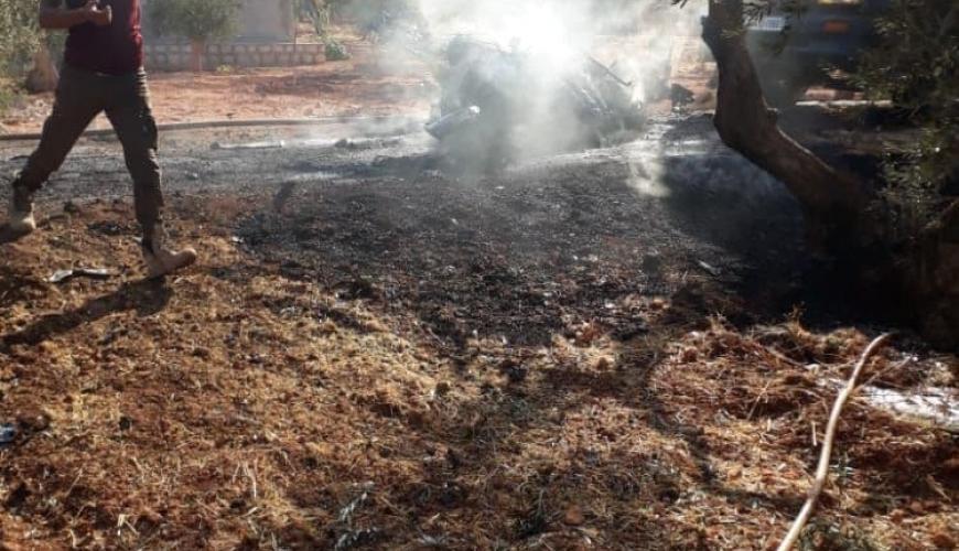 مصادر تتحدث عن  استهداف قادة لـ حرّاس الدين  بغارة للتحالف شرقي إدلب
