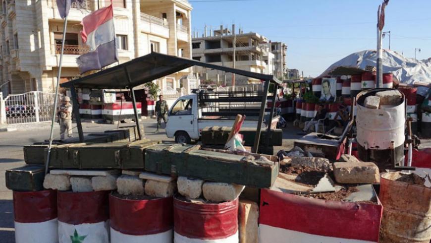 قوات النظام  تنشر نقاطها العسكرية في طفس بعد إتمام عملية التسوية