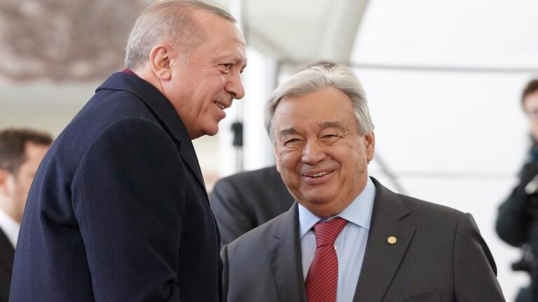 أردوغان وغوتيريش يبحثان الأوضاع في سوريا وأفغانستان وليبيا