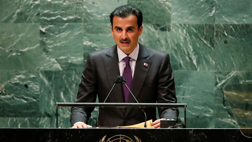 أمير دولة قطر يحذر المجتمع الدولي من إهمال القضية السورية